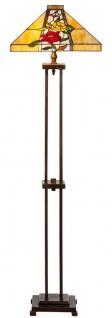 Casa Padrino Luxus Tiffany Stehleuchte Braun / Mehrfarbig 40 x 40 x H. 145 cm - Handgefertigt Tiffany Lampe aus 352 Teilen