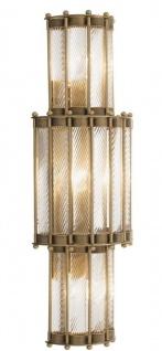 Casa Padrino Luxus Wandleuchte Antik Messingfarben 22, 5 x 15 x H. 65 cm - Wohnzimmerlampe - Vorschau 3