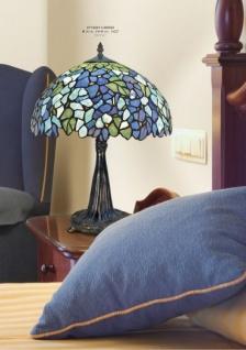 Handgefertigte Tiffany Hockerleuchte von Casa Padrino Höhe 46 cm, Durchmesser 36 cm - Leuchte Lampe - wunderschöne Tiffany Tischleuchte