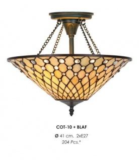 Casa Padrino Tiffany Deckenleuchte 41cm - Glas Mosaik Decken Lampe Leuchte Barock Restaurant Beleuchtung