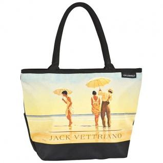 """Designer Shoppertasche mit dem Motiv des schottischen Künstlers Jack Vettriano """" Am Strand"""" - Elegante Tasche - Luxus Design"""