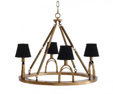 Casa Padrino Luxus Kronleuchter - Luxus Hängeleuchte Messing Durchmesser 70 x H 61 cm - Vorschau 2