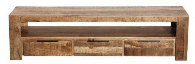Casa Padrino Designer Fernsehschrank Natur B.170cm x H.45cm x T.45cm - Sideboard - Kommode - Handgefertigt aus Mango Massivholz!