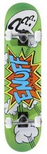 Enuff Skateboard Komplettboard Kids Beginner Series Pow II Green 7.25 x 29.5 inch - Complete Skateboard mit Koston Kugellagern