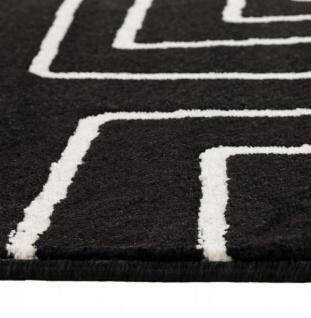 Casa Padrino Designer Teppich 160 x 230 cm Schwarz/ Weiß Design - Läufer - Vorschau 4