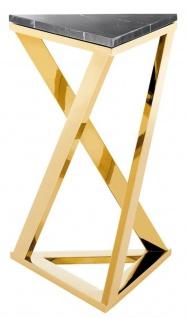 Casa Padrino Luxus Designer Beistelltisch Gold 43 x 37 x H. 65, 5 cm - Limited Edition
