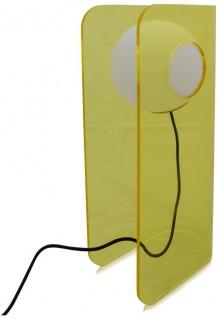 Casa Padrino Luxus Designer Tischleuchte Gelb 28, 5 x 17 x H. 59 cm - Moderne Leuchte - Vorschau 4