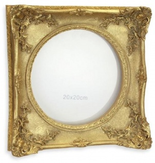 Casa Padrino Barock Bilderrahmen Antik Gold 30 x H. 30 cm - Antik Stil Bilderrahmen - Wohnzimmer Deko - Schreibtisch Deko - Deko Accessoires im Barockstil