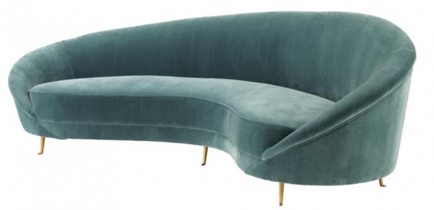 Casa Padrino Designer Sofa Dunkeltürkis 245 x 87 x H. 79 cm - Limited Edition