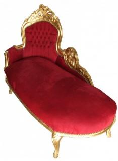 """Barock Chaiselongue """" King"""" Bordeaux/Gold"""