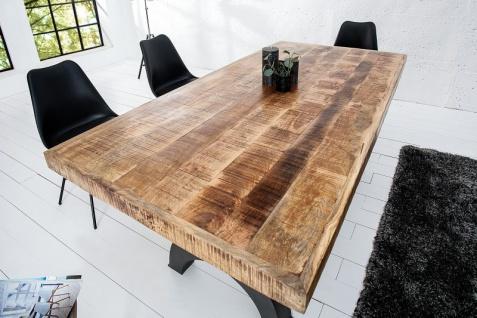 Casa Padrino Designer Massivholz Esstisch Natur - Mangoholz - 200 x 100 x H.75 - 105 cm - Aus massivem Mangoholz - Höhenverstellbar - Vorschau 2