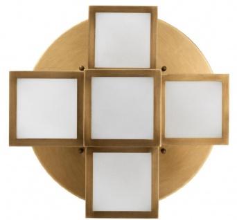 Casa Padrino Luxus Deckenleuchte Antik Messingfarben / Weiß Ø 50 x H. 53, 5 cm - Luxus Qualität - Vorschau 5