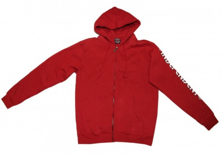 Independent Skateboard Pullover Hooded Red Sweater