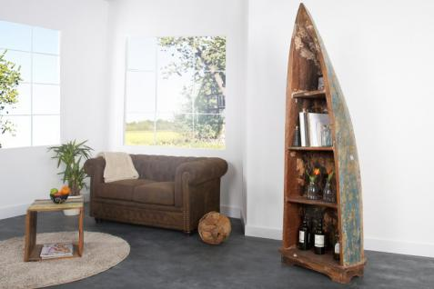 Casa Padrino Vintage Regal Schrank Boot Teakholz - 100% recyceltes Altholz
