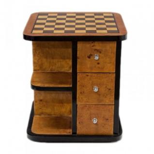 Casa Padrino Art Deco Spieltisch Schach / Dame Mahagoni L 50 x B 50 x H 55 cm - Möbel Antik Stil Barock