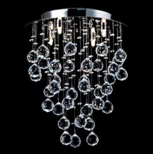 Casa Padrino Modern Decken Kristall Kronleuchter Nickel 35 x H 43 cm Antik Stil - Möbel Lüster Leuchter Hängeleuchte Hängelampe