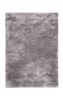 Casa Padrino Designer Teppich Unicolor Silber - Möbel Teppich