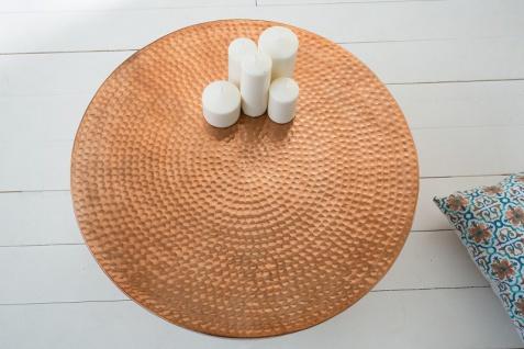 Casa Padrino Luxus Couchtisch kupfer 68 cm Aluminium - Wohnzimmer Salon Tisch - Unikat - Vorschau 3