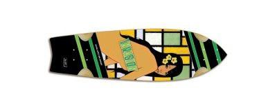 Invasion Skateboard Longboard by Jet Starship GirlsAndDanger Cruiser Deck 8.5 x 29.5