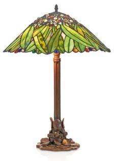 Casa Padrino Tiffany Tischleuchte Hockerleuchte Bananenblätter 40 cm ModX4b - Leuchte Lampe