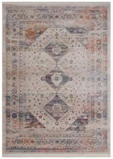 Casa Padrino Vintage Wohnzimmer Teppich Mehrfarbig - Verschiedene Größen - Rechteckiger Teppich - Deko Accessoires