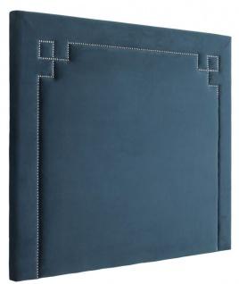 Casa Padrino Designer Bett-Kopfteil Blau 180 x H. 150 cm - Luxus Schlafzimmermöbel - Vorschau 2