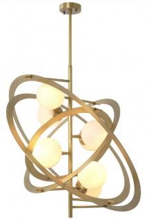 Casa Padrino Designer Kronleuchter Antik Messing / Weiß 92 x 80 x H. 80 cm - Luxus Qualität