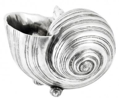 Casa Padrino Luxus Aluminium Muscheln Antik Silber - Deko 3er Set - Vorschau 2