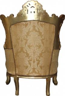 Casa Padrino Barock Sessel Al Capone Mod2 Gold Muster / Gold 90 x 80 x H. 127 cm - Barock Möbel - Vorschau 2