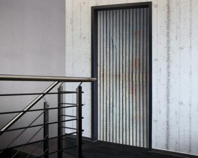 Tür 2.0 XXL Wallpaper für Türen 20016 Wellblech - selbstklebend- Blickfang für Ihr zu Hause - Tür Aufkleber Tapete Fototapete FotoTür 2.0 XXL Vintage Antik Stil Retro Wallpaper Fototapete