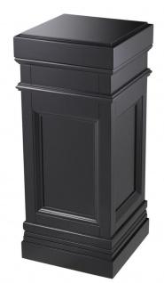 Casa Padrino Säule Schwarz 44 x 44 x H. 103 cm - Luxus Beistelltisch