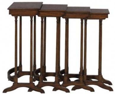 Casa Padrino Luxus Beistelltisch Braun / Dunkelbraun 37 x 34 x H. 73 cm - Ausziehbarer Mahagoni Tisch - Vorschau 4