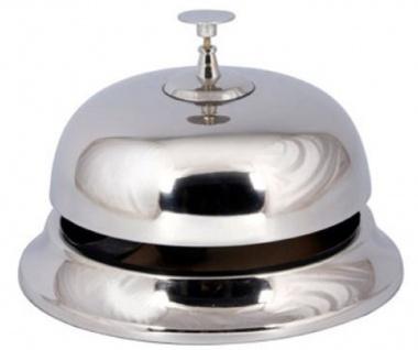 Casa Padrino Aluminium Tischglocke Silber Ø 13 x H. 17, 5 cm - Tischklingel - Service Glocke - Hotel & Gastronomie Accessoires