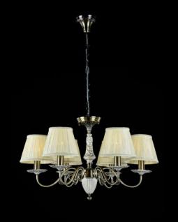 Casa Padrino Barock Kristall Decken Kronleuchter Bronze 66 x H 41 cm Antik Stil - Möbel Lüster Leuchter Hängeleuchte Hängelampe