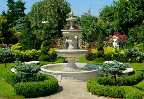Casa Padrino Barock Gartenbrunnen / Springbrunnen Ø 265 x H. 280 cm - Prunkvoller 3-Stufiger Brunnen im Barockstil - Vorschau 3