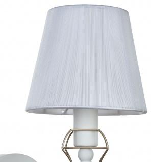 Casa Padrino Jugendstil Wandleuchte Weiß / Gold 15 x 24 x H. 30 cm - Jugendstil Wandlampe - Vorschau 5