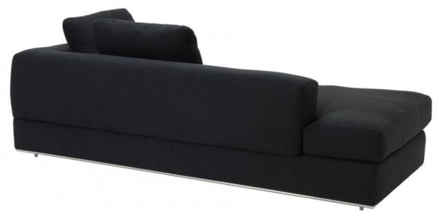Casa Padrino Designer Sofa Schwarz Rechtsseitig 231 x 101 x H. 85 cm - Luxus Wohnzimmer Möbel - Vorschau 2