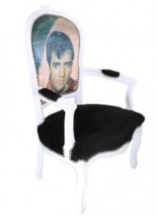 Casa Padrino Barock Salon Stuhl Elvis Presley - Barock Antik Stil Möbel - Vorschau 2