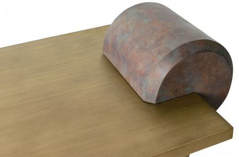 Casa Padrino Designer Couchtisch Messing / Antik Kupfer 115 x 60 x H. 53 cm - Wohnzimmertisch aus Glasfaserverstärktem Beton - Luxus Qualität - Vorschau 4
