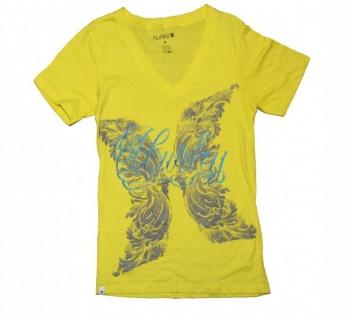 Hurley Skateboard Damen T-Shirt Yellow