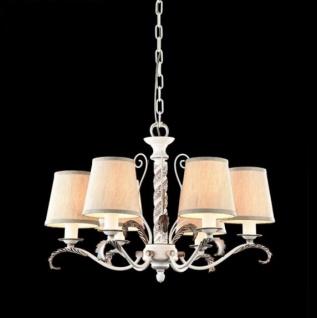 Casa Padrino Barock Decken Kronleuchter Antik Weiß 56 x H 38 cm Antik Stil - Möbel Lüster Leuchter Hängeleuchte Hängelampe