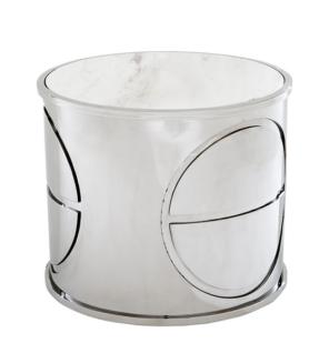 Casa Padrino Luxus Art Deco Designer Beistelltisch mit Marmorplatte - Luxus Designer Tisch