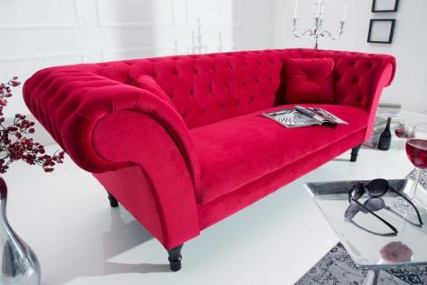 Casa Padrino Chesterfield Sofa in Rot 225 x 90 x H. 79 cm - Designer Chesterfield Sofa - Vorschau 4