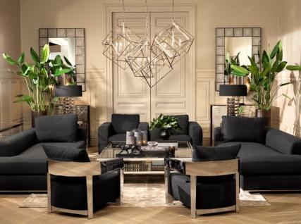 Casa Padrino Designer Sofa Schwarz Rechtsseitig 231 x 101 x H. 85 cm - Luxus Wohnzimmer Möbel - Vorschau 5
