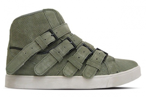 SUPRA Skateboard Schuhe NS Strapped Army Leather