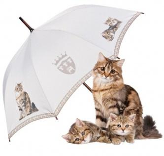 """MySchirm Designer Regenschirm """" Getigerte Katzen"""" - Eleganter Stockschirm - Luxus Design - Automatikschirm"""