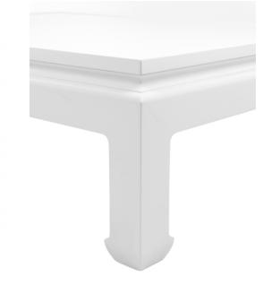 Casa Padrino Luxus Art Deco Designer Mahagoni Couchtisch Weiß - Wohnzimmer Salon Tisch - Luxus Kollektion - Vorschau 4
