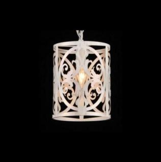 Casa Padrino Barock Decken Kronleuchter Creme Gold 18 x H 27 cm Antik Stil - Möbel Lüster Leuchter Deckenleuchte Hängelampe