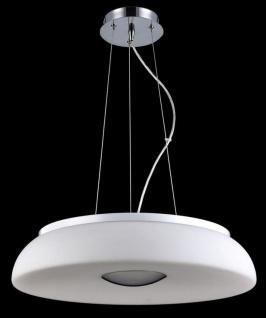 Casa Padrino Luxus Hängeleuchte Weiß / Silber Ø 50 x H. 10 cm - Wohnzimmer Hängelampe - Vorschau 2