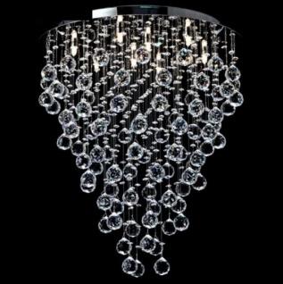 Casa Padrino Modern Decken Kristall Kronleuchter Nickel 55 x H 65 cm Antik Stil - Möbel Lüster Leuchter Hängeleuchte Hängelampe
